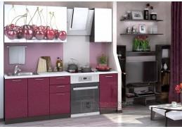 VALERIA ART, kuchyně 160cm, wenge / granátový lesk / bílý lesk Cherry