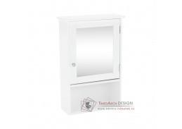ATENE 02, závěsná skříňka se zrcadlem, bílá