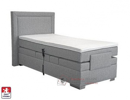 MARGO, postel 90x200cm box-spring, elektrické polohování