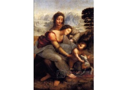 R1-10 Leonardo da Vinci - Žena s dítětem a svatou Annou