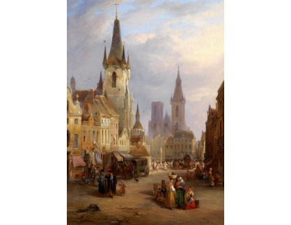 Krásné obrazy II-251 Joseph Barter - Tržní den