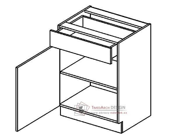 D60S/1 dolní skříňka se zásuvkou BIANCA levá