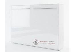 CONCEPT PRO CP-06, široká výklopná postel 90x200cm, bílá / bílý lesk