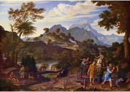 VSO 637 Joseph Anton Koch - Krajina s poutníky do země zaslíbené