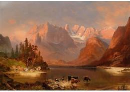 Slavné obrazy XIII-1 Neznámý autor - Dolomity v podvečer
