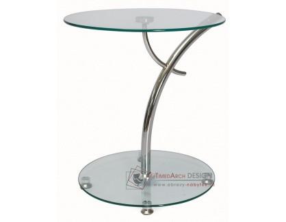 Konferenční stolek MUNA chrom / sklo