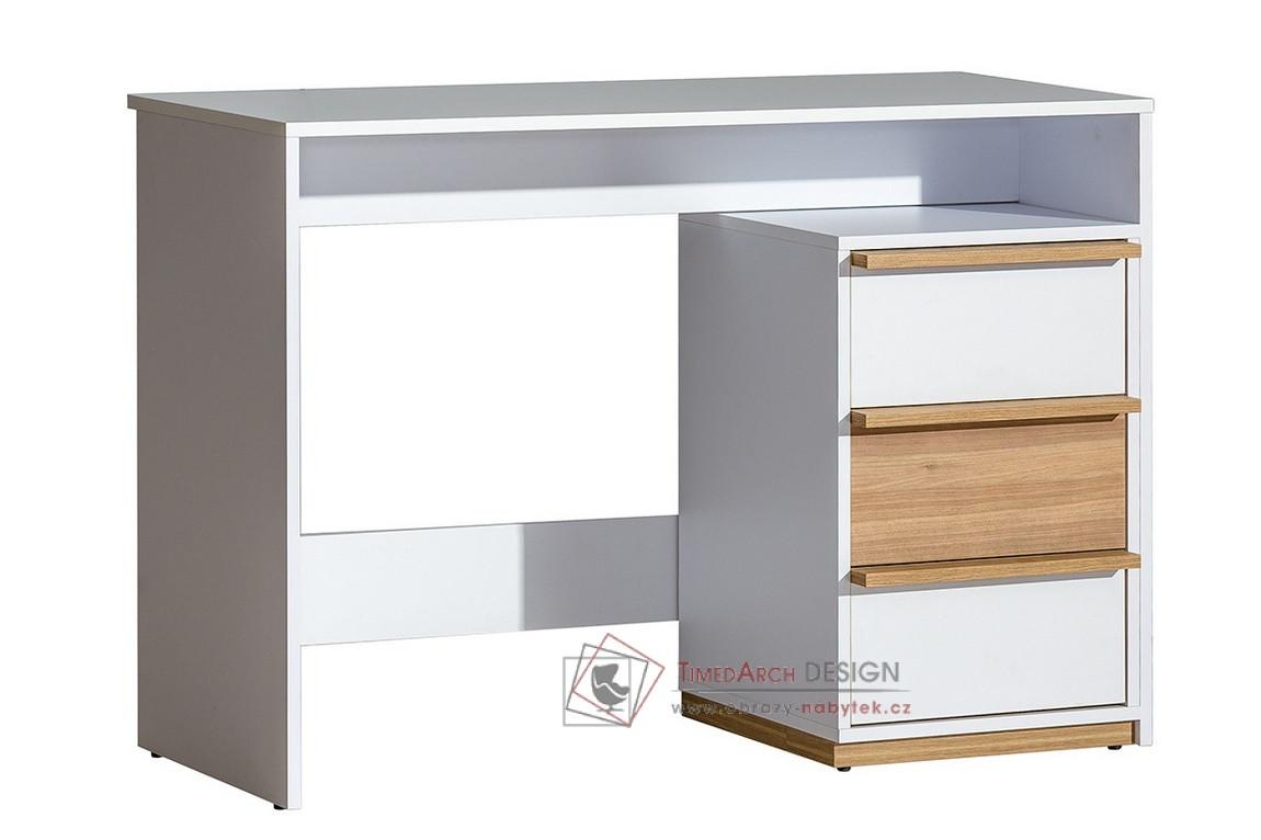 Pracovní stůl  EVADO E14 bílý diamant / ořech select