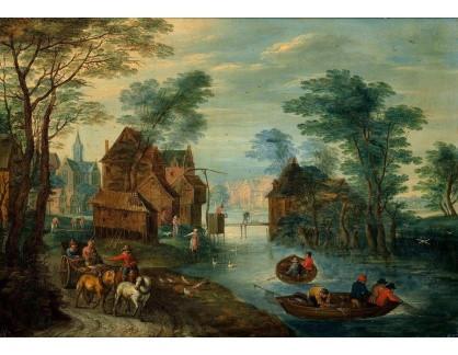 BRG-100 Jan Brueghel - Vesnice u kanálu