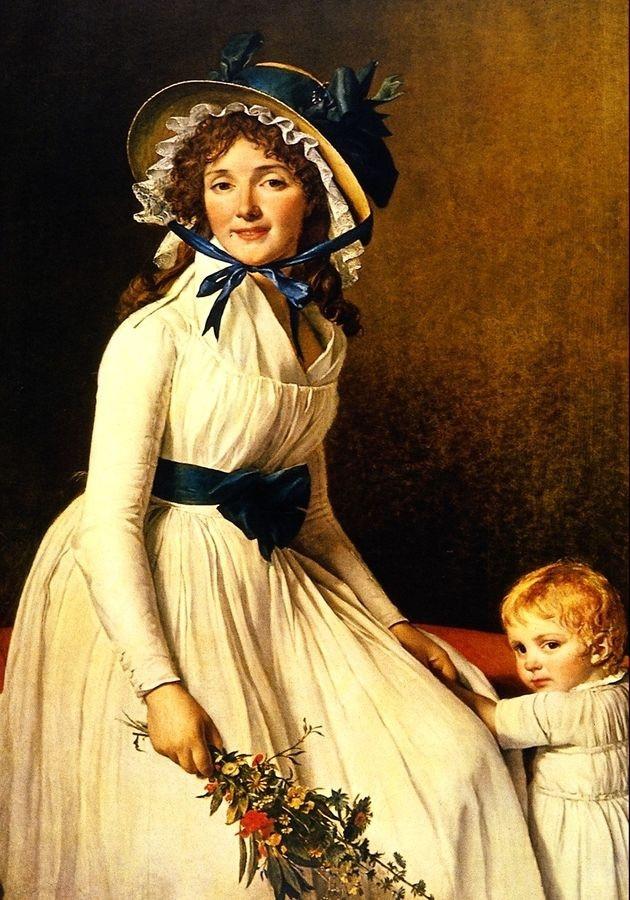 VSO107 Jacques Louis David - Portrét paní Emilie Seriziat a jejího syna