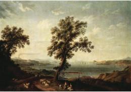 Slavné obrazy V-109 Jacob Philipp Hackert - Pohled na záliv v Pozzuoli