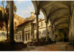 Slavné obrazy XIII-99 Carl Georg Anton Graeb - Kaple v kostele Santa Croce ve Florencii