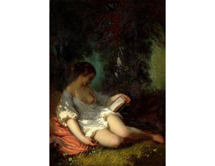 Krásné obrazy II-324 Louis Antoine Estachon - Čtení v parku
