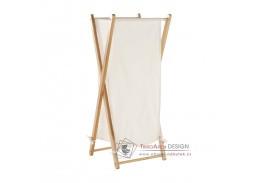 AVELINO, koš na prádlo, lakovaný bambus / bílá