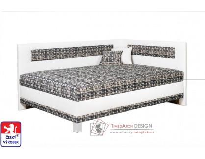 LUCIA, čalouněná postel rohová 120x200cm