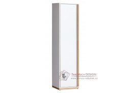 Skříň EVADO E12 bílý diamant / ořech select - levá