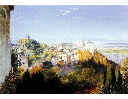 VANG232 John Haynes Williams - Pohled na Albaicin z Alhambry