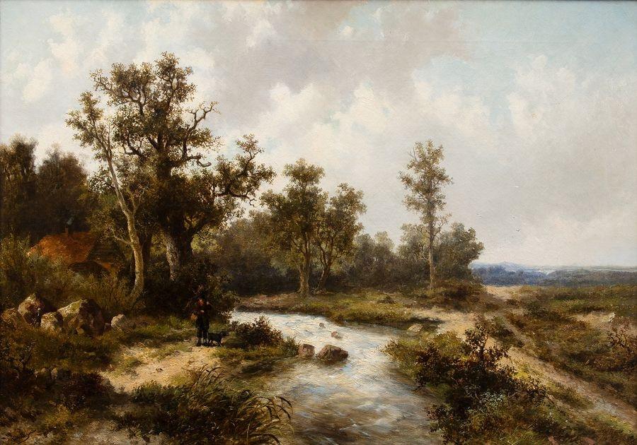 Slavné obrazy II-DDSO-372 Abraham Hulk - Krajina s potokem