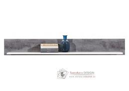 BRANDO B08, závěsná polička, bílá / beton