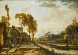 D-5808 Aert van der Neer - Odpolední zábava v holandské vesnici