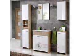 PALERMO, koupelnová sestava, dub sonoma / bílá