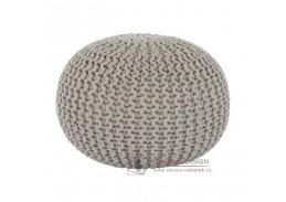 GOBI 2, pletený taburet, krémová bavlna