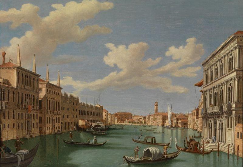 Slavné obrazy XIII-456 Vincenzo Chilone - Canal Grande v Benátkách