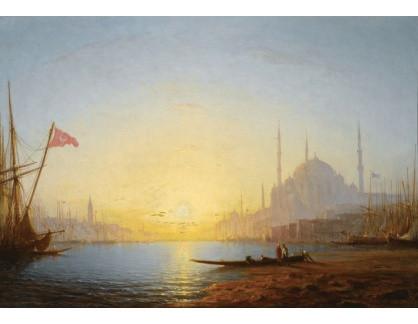 Slavné obrazy XVI-146 Amédée Rosier - Pohled na Konstantinopol