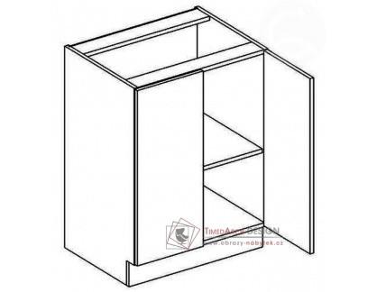 Dolní skříňka dvoudvéřová D60 PREMIUM de LUX hruška