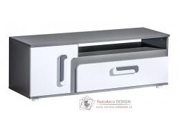 APETTITA 17, televizní stolek, antracit / bílá