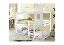 ATRISA, patrová postel Montessori 90x200cm, borovice bílá