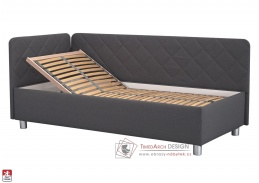 FIONA, postel 110x200cm, látka MALMO NEW 95 / BEZ matrace