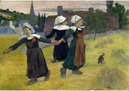 D-7538 Paul Gauguin - Bretonské tančící dívky