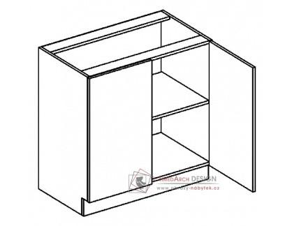 PREMIUM de LUX, dolní skříňka 2-dvéřová D80, hruška