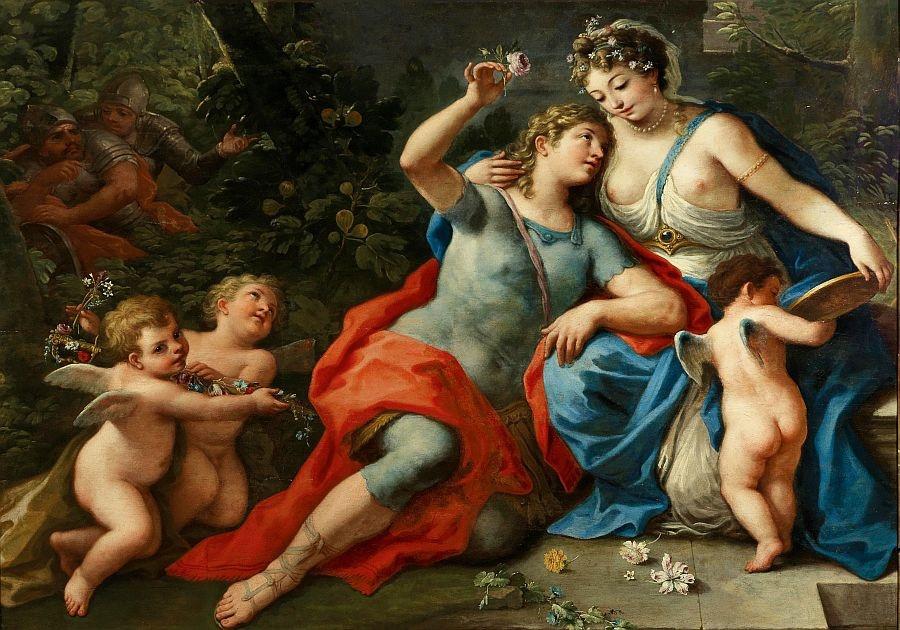 Slavné obrazy II-DDSO-323 Paolo de Matteis - Rinaldo a Armida