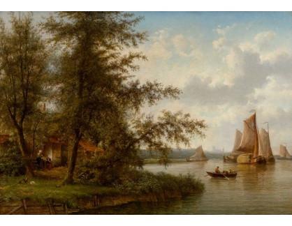 Slavné obrazy III-DDSO-531 Cornelis Johan De Vogel - Holandská krajina