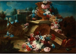 Slavné obrazy IX DDSO-633 Gasparo Lopezi - Květinové zátiší