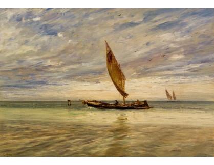Slavné obrazy IX DDSO-653 Guglielmo Ciardi - Rybáři v laguně