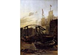 Slavné obrazy VII-10 Adam Pijnacker - Přístav v Schiedam