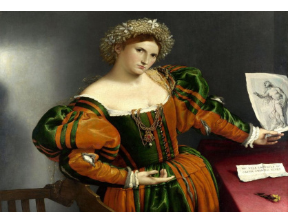 VLL 08 Lorenzo Lotto - Portrét ženy inspirované Lucretii