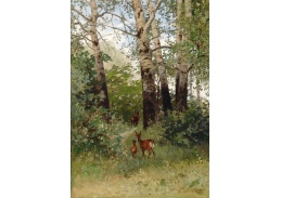 Slavné obrazy XVII-493 Hugo Darnaut - Srnky v lese