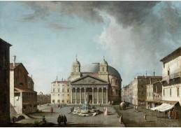 Krásné obrazy IV-11 Jacopo Fabris - Pohled na pantheon v Římě