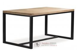 Jídelní stůl 120x80cm LORAS A černá / masiv dub