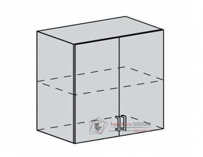 PROVENCE, horní skříňka 2-dveřová 80H, bílá / vanilka