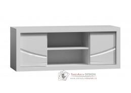 PARIS P06, televizní stolek, bílá / bílý lesk