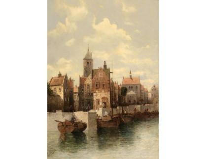 Slavné obrazy I-DDSO-43 August von Siegen - Scéna z Gdaňsku