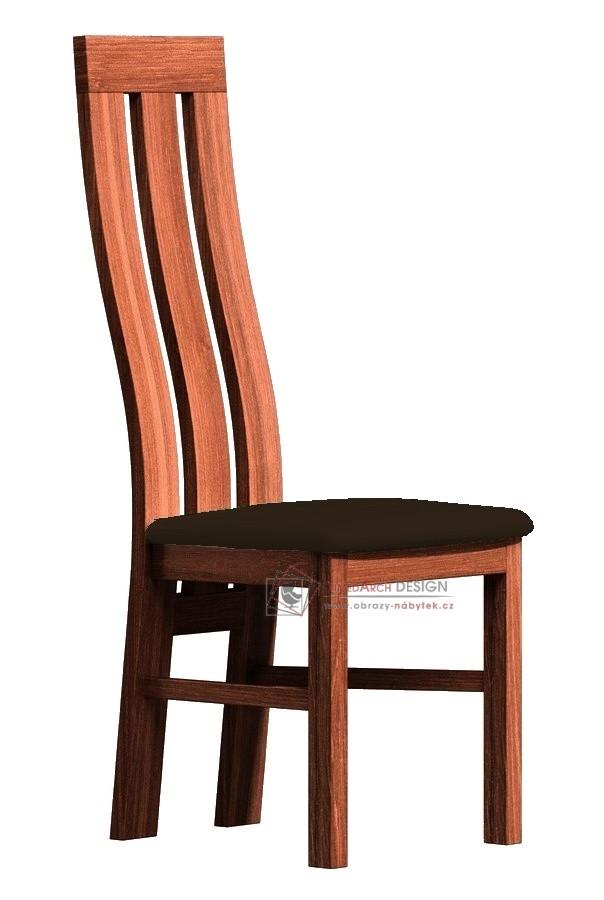 Jídelní čalouněná židle II dub stoletý / látka tmavě hnědá
