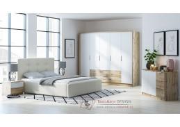VALTURA, ložnicová sestava nábytku, dub wotan / bílá