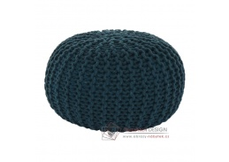 GOBI 2, pletený taburet, petrolejová bavlna