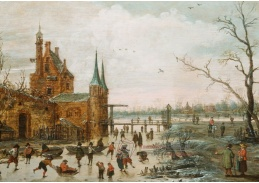 D-5852 Esaias van de Velde - Bruslaři před městskými hradbami
