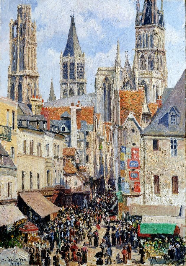 VCP-488 Camille Pissarro - Rue de Epicerie v Rouen